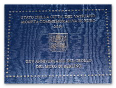 Vatican - 2 euro 2014 '25 Years since the Fall of the Wall' + 2 euro 2015 'World Gathering of Families in Philadelphia'