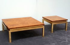 Unknown designer - Coffee table with matching side table