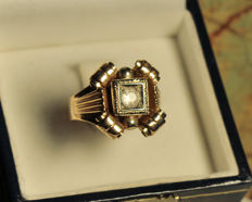 Engagement ring in 18 kt gold - 1940s