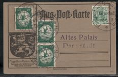 German Reich 1899/1924 - lot with better postal used items, partially tested