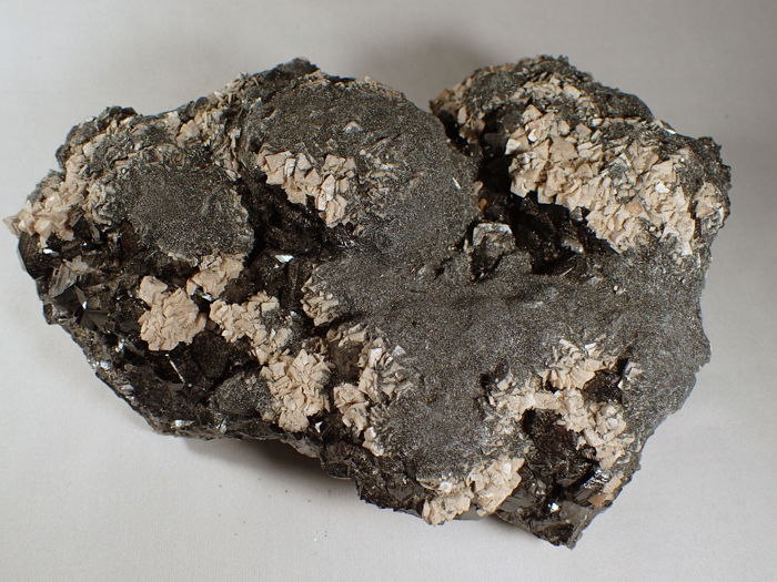 Very nice bright Boulangerite, Dolomite, Calcite, Marmatite, Arsenopyrite and other minerals - 25 x 19 x 12 cm - 6700 g