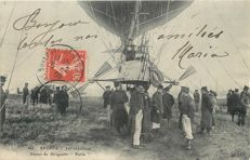 "Aviation - Ballooning - Lot of 6 old postcards ""the airship Patrie"""
