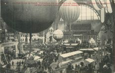 "Balloon - Aviation - Aerospace - old postcard ""Exposition Internationale de locomotion Aérienne au Grand Palais à Paris en 1910"