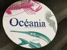 La Chaise Longue - 'Oceania', six oval porcelain plates, 29 x 26 cm Collectors item, production retired in 2013