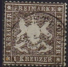 Germany: old states: Württemberg 1861- Michel no. 16yb and 19yb.