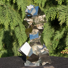 Top Twin Pyrite cubes - Very rare - 18 x 10 cm  1076 g