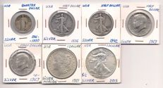 United States -  Lot of coins of 153 pieces from a private collection of the period from 1916 to 2013 - including silver