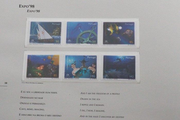 Portugal 1998 - CTT book with all commemorative stamps.