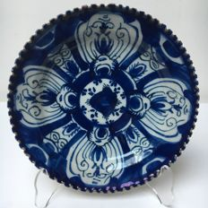 Delftware - blue/white glazed plate, the Netherlands, 17th century, ca 1720-1740