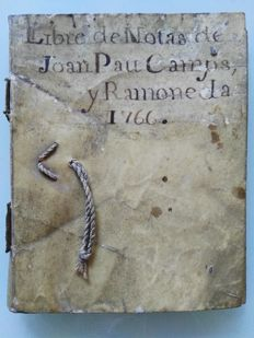 Notebook or 'blanquita' - 1766