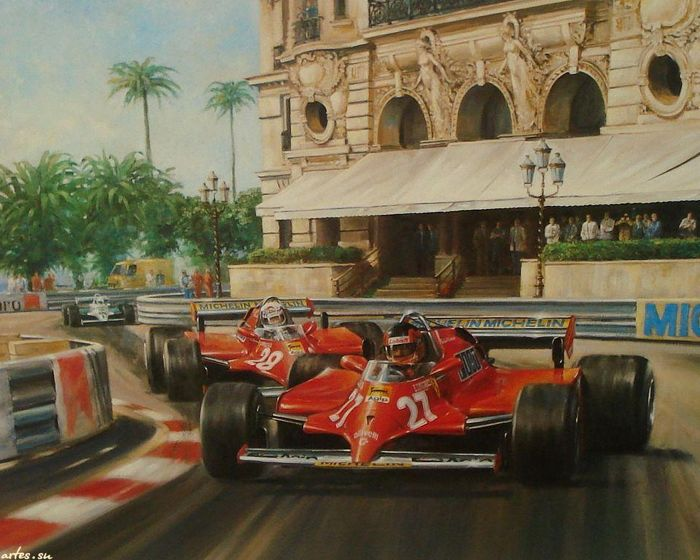 F De Villeneuve Oil Painting