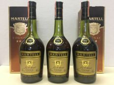 Cognac Martell VS 1980s with original box - 3 bottles