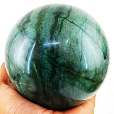 "Very Fine Dark Green Aventurine ""healing ball"" - 105 mm - 1554 gm"