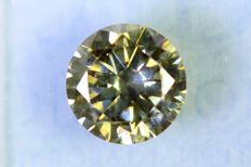 Fancy Yellowish GREEN - 1.01  ct - SI2