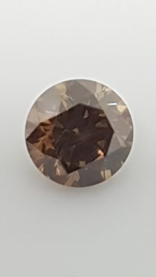 0.55 ct - Round Brilliant - Brown - VS1