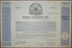 USA - Harley-Davidson Inc. - Share Certificate 1991 - world-famous American motorcycle manufacturer
