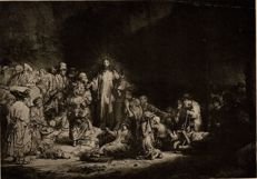 Rembrandt van Rijn (after), Meisenbach The hundred gulden print, heliogravure, ca 1897