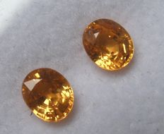 Pair of Spessartite Garnets – 1.92 ct Total – No Reserve Price