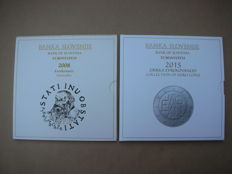 Slovenia - Year packs of Euro coins, 2008 and 2015