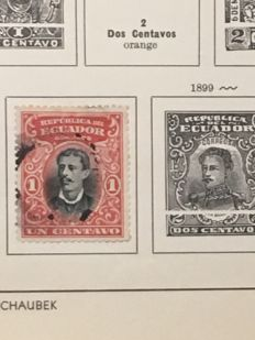 Ecuador - Multiple Collections in 2 stockbooks and on many pages