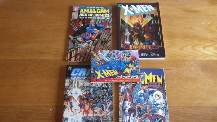 Collection of x5 Trade Paperbacks - Including X-men, Nextmen, Crisis on Infinite Earths & Amalgam Age of Comics - (1994/1998)