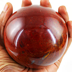 "Red Mookaite Jasper ""healing Sphere"" - 90 mm - 836 gm"