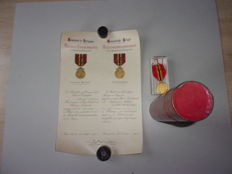 Commemorative Medal with grace letter in associated cylinder