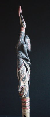 Ceremonial flute of the YATMÜL people of Middle Sepik from PNG