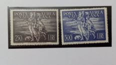 Vatican, 1948 - Airmail of Archangel and Tobiolo - Sassone No. 16-17