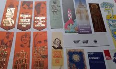 Book objects; Large collection of bookmarks - 350 items - 20th/21st century