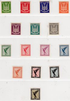 German Empire/Reich collection air mail – air mail and official stamps