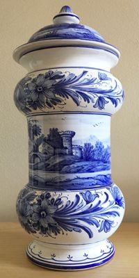 Large Ceramic Vintage Jar with Lid - Mignini Art Ceramics