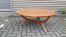 A.A. Patijn for furniture factory Zijlstra - vintage round beech coffee table