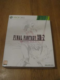 X-box 360: FINAL FANTASY XIII-2 Crystal edition (new!!) plus the game. many cards+a lim. edit. shirt(new)+3 d card+booklets and many more.