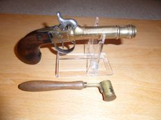 Navy Percussion Pistol with Powder Measure