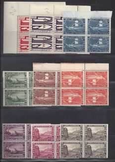 Belgium, 1928 - First Orval - OBP 258-266, in blocks of four