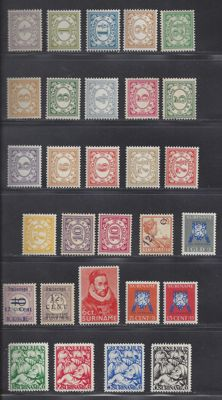 Suriname 1890//1948 - Various complete emissions - NVPH 69/86, 115, 116/117b, 141/144, 145 and 150