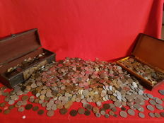 World - Lot of world coins over 5000 pieces (20 kg) since year 1800 including silver