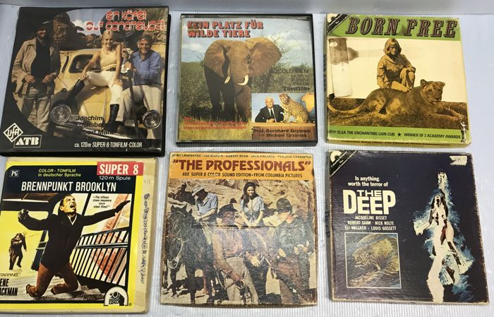 6 x vintage Super 8 feature films