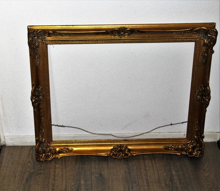 ec046f5a038 Beautiful Gold Plated Old Picture Frame Catawiki