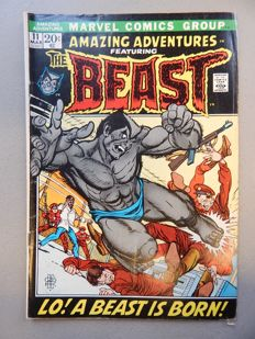 Marvel Comics - Amazing Adventures #11 - with First appearance of Beast (Hank McCoy) in Blur Fur Form - 1x sc - (1972)