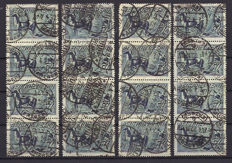 Germany 1921 - Michel 176 and 196 Pflüger, cancelled with combinations of 2, 3 and 4. Michel + €750.