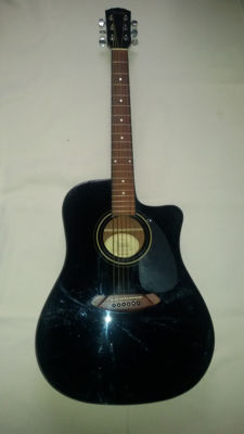Fender CD60CE Black - CS06078565 - China - 2006
