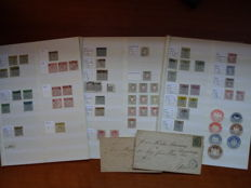 Selection of stamps from German Stats. Baden - Hannover - Braunschweig - Helgoland - Oldenburg 1850/1880