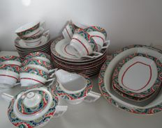 Phoenix China - thin porcelain dinnerware, 38 pieces