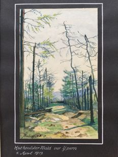 Houthulster Wald vor Ypern - Drawing (1917), Germany