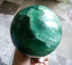 Natural Green Fluorite crystal sphere - 115 mm - 2420 gm