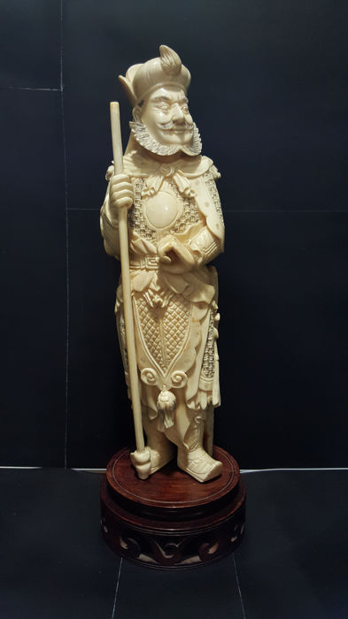 2c1714eaa Ivory sculpture - Nobleman with halberd - China - early 20th century ...