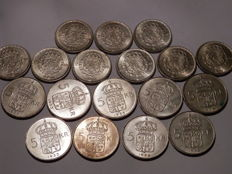 Sweden - Lot of 2 & 5 Kr from lots of years (288,2 gram) - silver