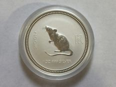 Australia - 1 Dollar 2008 'Lunar Year of the Mouse' - 1 oz silver